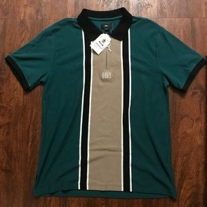 FRESH Obey Polo Zip Up Shirt